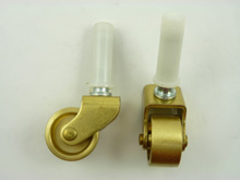 3401-2 - Casters, Set of 4 small casters solid brass wheels. 1 1/4