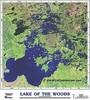 Lake of the Woods Satellite Image