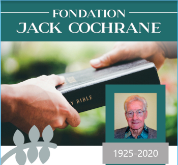 Fondation Jack Cochrane - organisme reconnu # 765819271 RR0001