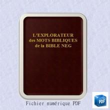 L'Explorateur des mots bibliques de la Bible NEG - numérique PDF
