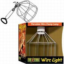 Exo Terra Porcelain Wire Clamp Lamp Large