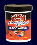 Omega One Freeze Dried Bloodworms 81g (2.88oz.) - 3 X 27g cans