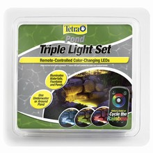 Tetra Pond Triple LED Light Set With Remote - Colour Changing