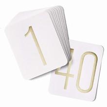 Numéro de Table Doré