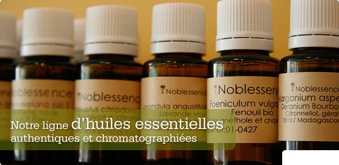Notre ligne d'huiles essentielles authentiques et chromatographiées