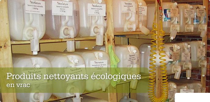 Produits nettoyants écologiques en vrac
