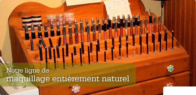 Notre ligne de maquillage entièrement naturel