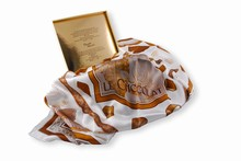 SCARF foulard 100% soie Chocolat