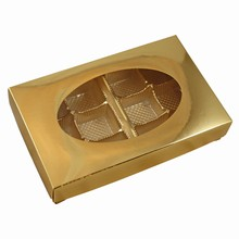 CC203 Metallic gold 1/2lb Rect. Box