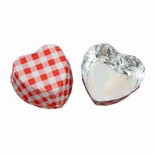 Caissettes coeur rouge vichy