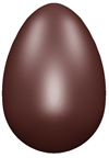 art1475 Smooth egg chocolate mold