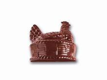 art169 Hen in basket chocolate mold