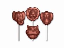 art14235 sucettes animaux moule chocolat