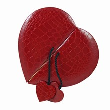 9176HT3 Red Croco-Illusion Heart