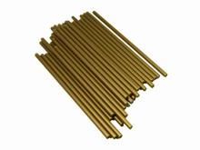 p412g bâtonnets à sucette dorés