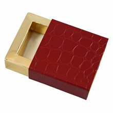 e19176g Sleevebox for 1 chocolate Red Croco