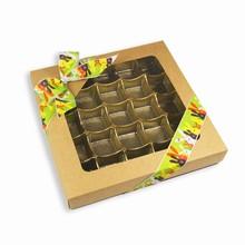 cck5 Boîte 1lb carré Kraft naturel