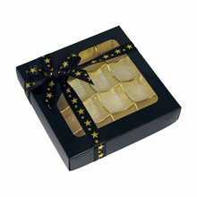 cc18-3 Glossy Black 16ct Square Box