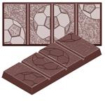 cw1620 Chocolate Mold soccer bar