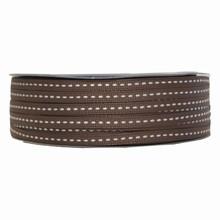 gg10 Grosgrain brown ribbon