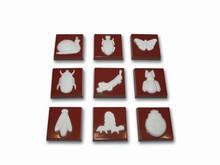 art13499  moule chocolat carrés insectes
