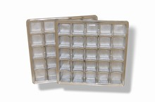 mp25s Silver 25pc plastic tray