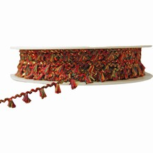 r261 Fringe string ribbon red and green