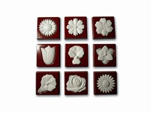 art14122 Square floral motif chocolate mold