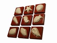 art14177 moule chocolat carrés coquillages