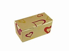 ccv207 Mini ballotin Valentin platine
