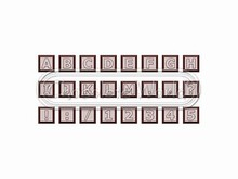 cw1628 cw 1629 moule chocolat alphabet