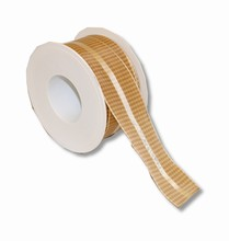 Cream colored plaid ribbon