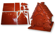 art14157 Santa's house chocolate mold