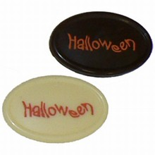 Thermoformed oval blister Halloween