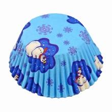 (s85msnow5)Snowmen cupcake liners 5000