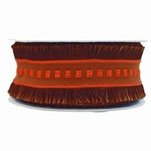 r700 Ruban frangé brun