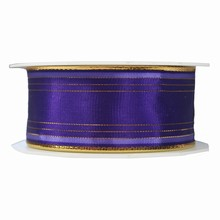 Purple ribbon with gold thread