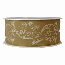 Taupe paisley pattern ribbon