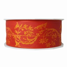 r62 Red paisley pattern ribbon