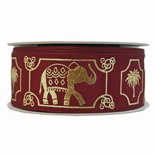 Burgundy royal elephant ribbon