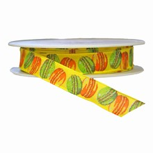 Yellow multicolored macaron cookie ribbon