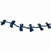 Ruban frange bleu turquoise
