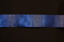 Royal blue ribbon with silver shimmer