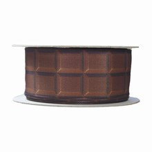 Ruban imprimé tablette chocolat