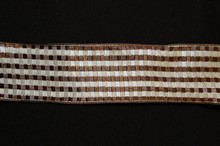 Cream and brown striped ribbon