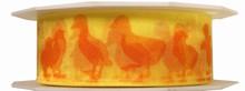 r167 Ruban pâques canards oranges