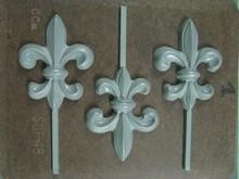 SUF48 Fleur-de-lis lollipop mold