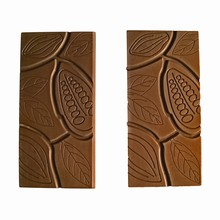 G251 Chocolat bar with cocoa pod motif mold