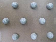 I90 Round bitesize mold with squiggle motif