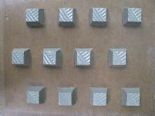 I91 Ridged square bitesize mold